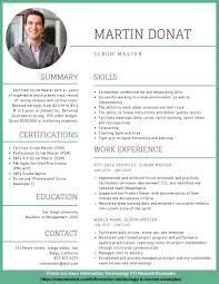 2020 New Resume Format Scrum Master Resume Example