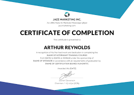 Completion Certificate Template Best Business Template