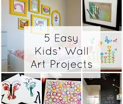 easy kids wall art projects fine mom superb kids wall decor