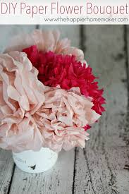 How To Make Paper Flower Bouquet Step By Step Easy Diy Tissue Paper Flower Bouquet The Happier Homemaker