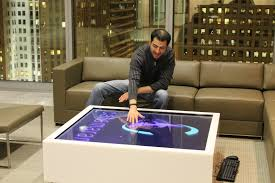 Interactive Coffee Table Modern Multi User Touch Table For Catamarans Innovation Center