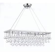 harrison lane modern 10 light chrome and crystal chandelier pendant with 40 mm crystal