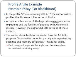 unit lecture ff  profile angle example example essay