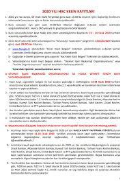 2020 Hac kura sonuçları açıklandı