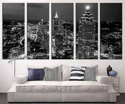 extra large art atlanta night canvas art print large wall art black white atlanta on amazon extra large wall art with amazon extra large art atlanta night canvas art print large