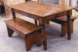 awesome-farmhouse-table-and-bench-youtube
