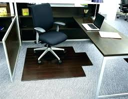 glass floor mat computer chair for hardwood floors office max with lip