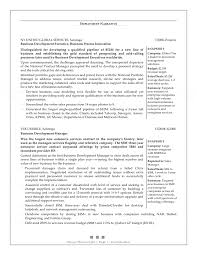 Resumes Business Development Resume Manager Objective Bullet Points