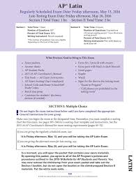 College Board Seating Chart Ap Latin Exam Instructions 2016