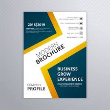 Brochure Template Design Free Free Colorful Modern Business Brochure Template Vector
