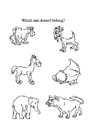 Farm Animal Coloring Pages For Preschoolers Free Printable Farm