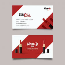 business card about cosmetics free vector