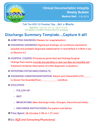 Clinical Discharge Summary - How To Create A Clinical Discharge ...