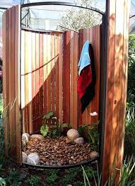 how to build an outdoor shower your own enclosure diy plans stall
