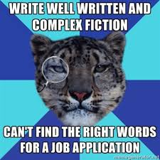 Writer Leopard.. A little meme goes a long way | mangrovejournal via Relatably.com