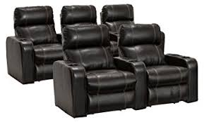 Amazon Lane Dynasty Black Bonded Leather Home Theater Seating