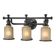 westmore lighting nicolette 3 light 10 in oil rubbed bronze bell vanity light