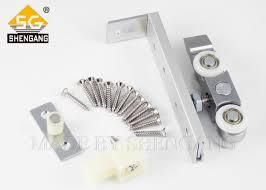 zinc alloy sliding door hardware adjust slide door roller hanging pulleys