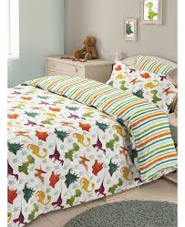 dinosaur double duvet cover and pillowcase bedding set multi