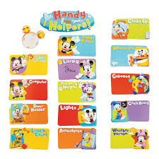 Mickey Mouse Job Chart Mickey Mouse Classroom Job Chart Orientaltrading Com