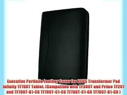 leather executive portfolio black genuine case cover with landscape portrait zippered padfolio