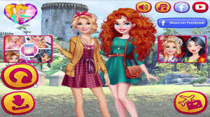 barbie visit merida barbie and ken fashion couple best dress up games 2016