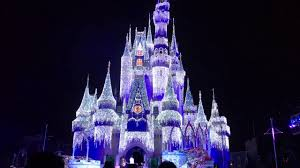 Frozen Holiday Wish Castle Lighting Show A Frozen Holiday Wish Magic Kingdom Christmas Castle Lights
