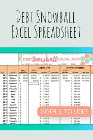 Debt Snowball Excel Spreadsheet Looks Like This Would Work Great If Following Dave Ramseys