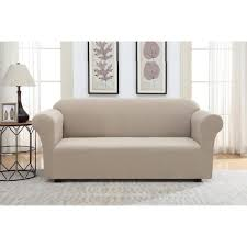 unbranded tan pique stretch fit sofa