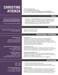 Architect Professor Resume Examples Sample For Faculty Position