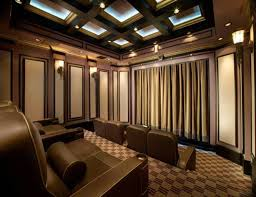 coffered ceiling lighting. coffered ceiling with home theater lighting and wall sconces