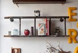old ladder bookshelves diy