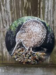 new zealand spotted kiwi bird circle outdoor wall art panel 30cm diameter on outdoor wall art new zealand with new zealand spotted kiwi bird circle outdoor wall art panel 30cm