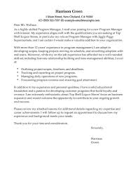 Program Manager Cover Letter Example Construction Program Manager