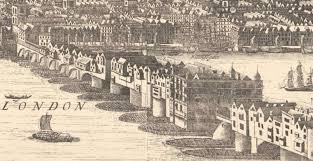 The remains of the old medieval <b>London Bridge</b>