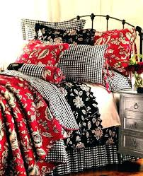 fl damask bedding collection in black and white