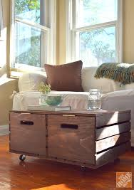 two crate coffee table