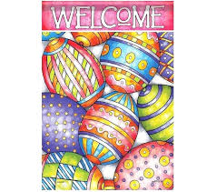 easter garden flags artist painted eggs garden flag high quality outdoor