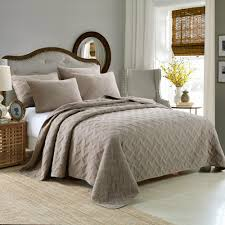 cotton quilts queen size. Delighful Quilts CHAUSUB 100 Cotton Quilt Set 3PCS Quilts Embroidery Bed Cover Quilted  Bedspread King Size SOFT Bedding Pillowcase Gray Coverletin From Home  Intended Queen A