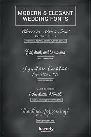 Different Fonts For Wedding Invitations Modern And Elegant Wedding