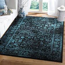 Image White Safavieh Adirondack Collection Adr109k Black And Teal Oriental Vintage Distressed Area Rug 51 Amazoncom Teal Area Rug Amazoncom
