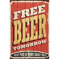 <b>Картина на дереве Дом</b> Корлеоне Free Beer Tomorrow 30x40 см ...