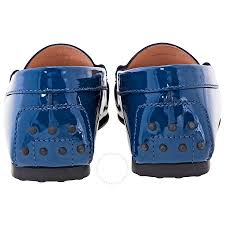 tod s gommini leather loafers dark blue