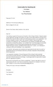 Luxury Sample Cover Letter For Teaching Job Doc Fredlug Info
