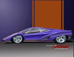 Bespoke Car Design Retro Mid Engine Grand Touring Sports Car Concept Heavy