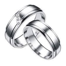 Amazon Com Uryy Couple Ring Stainless Steel Ring Wedding