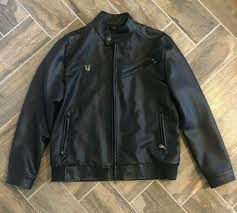 designer vg world collection mens black leather jacket made in italy size xl