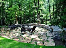 Flagstone Patio With Fire Pit Wwwgalleryhipcom The Hippest Pics