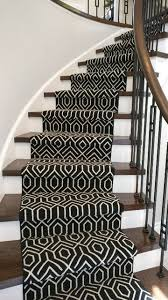 geometric black and white carpet runner for staircase and hallways yelp