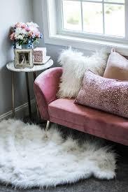 how to style a cozy bedroom nook homesense mauve velvet bench